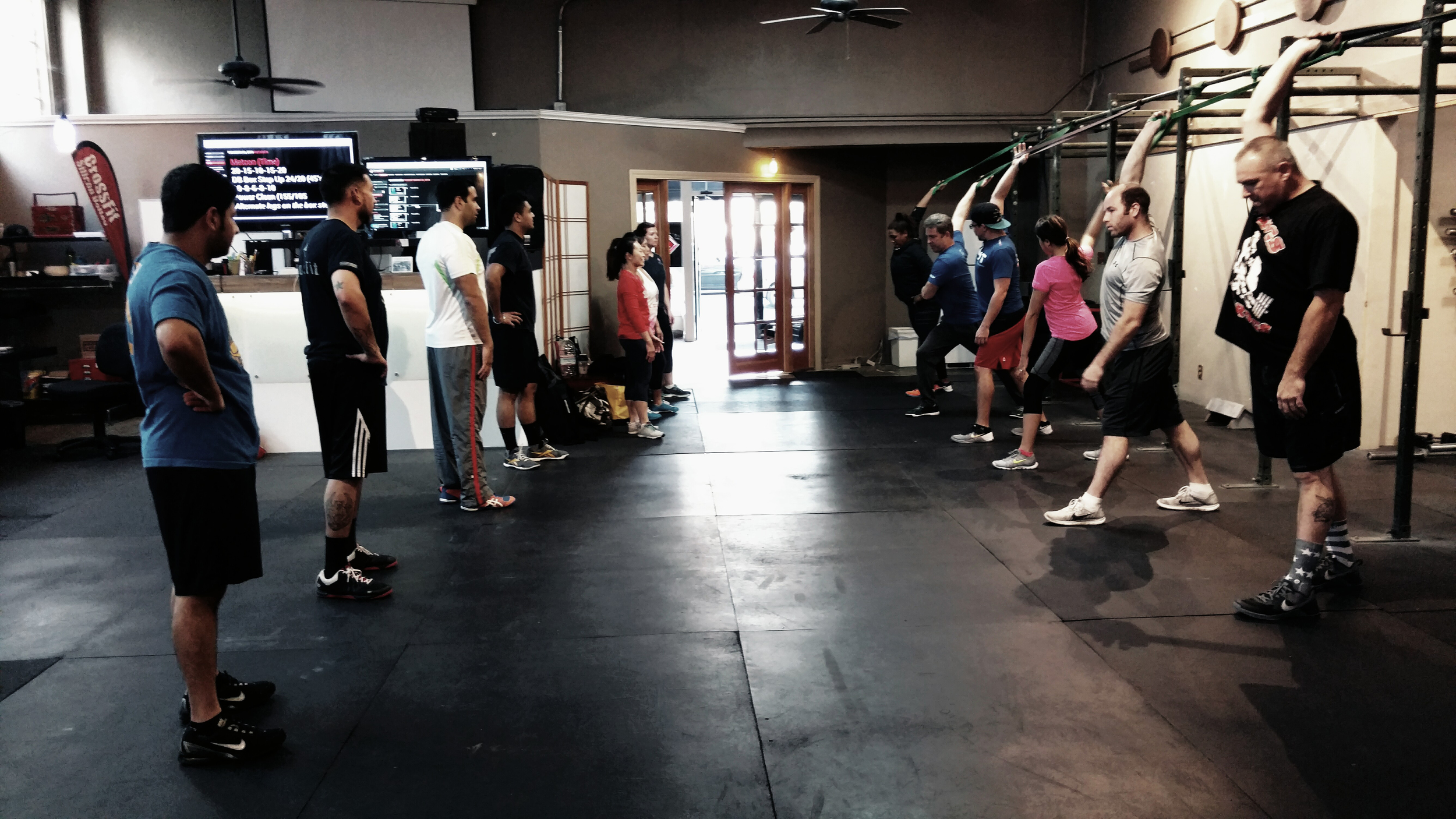 Welcome Coach Jason Barber working mobility with the 5:30 PM class!