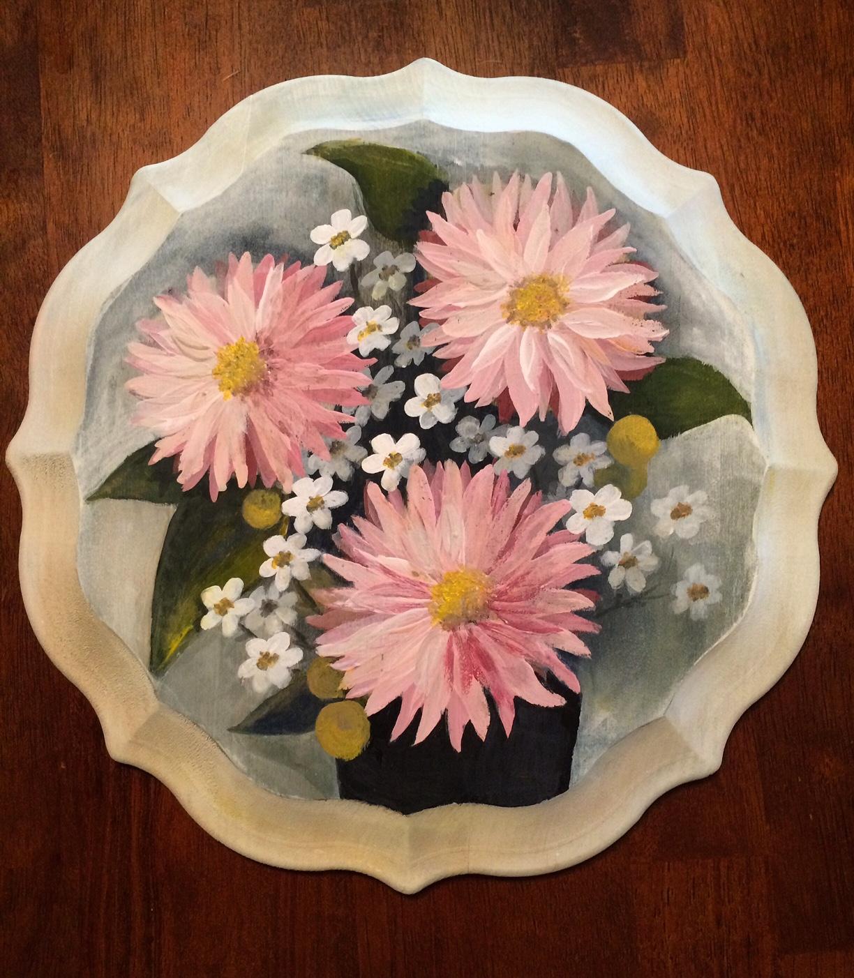 Custom floral bouquet paintings.