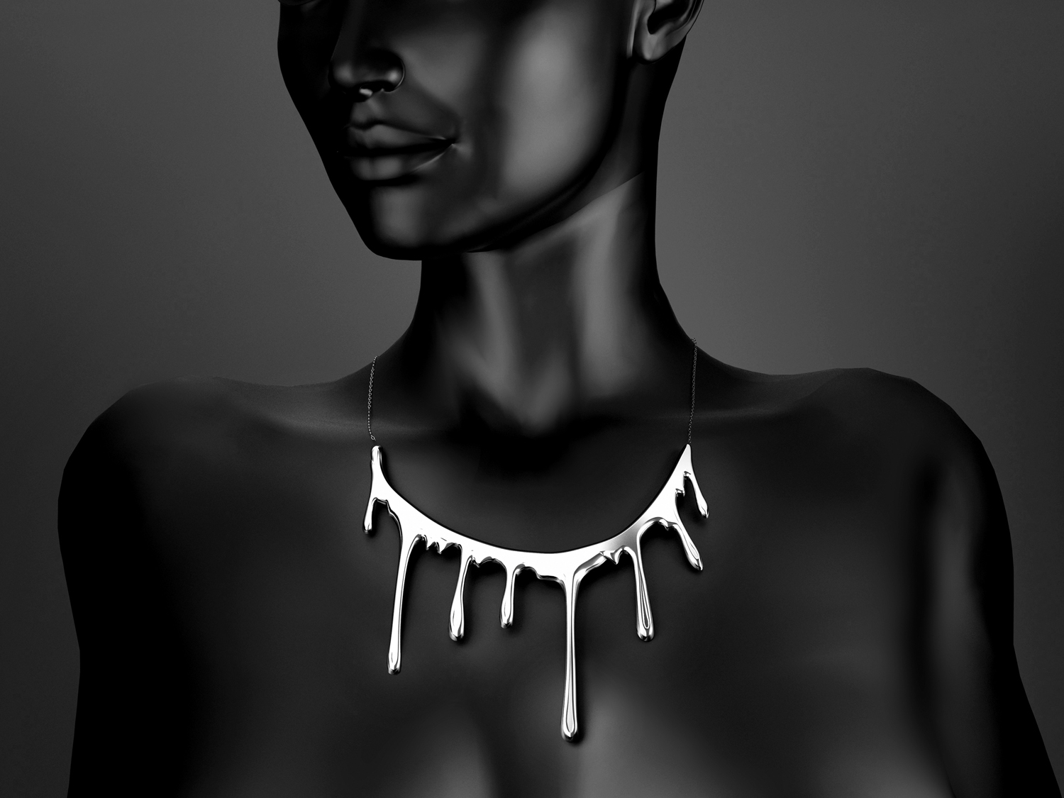 Bloody necklace ONE. Sterling silver.