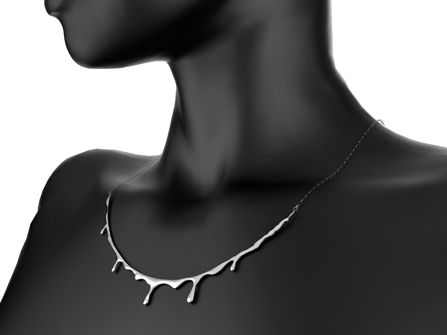 Bloody necklace. Sterling silver.