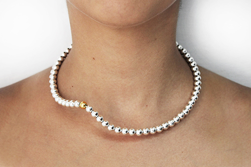 Silver Pearls.  Sterling silver and   gold plated finish.