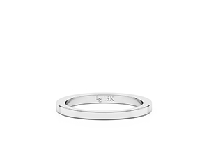 Sylvie wedding band. Made in 18K white gold.