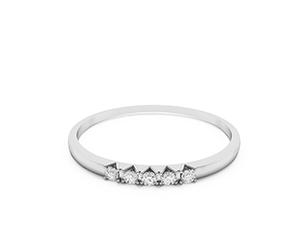 Sylvie five stone diamond wedding ring. Made in 14K or 18K white gold.