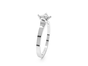 Folie engagement ring made in 14K or 18K white gold.