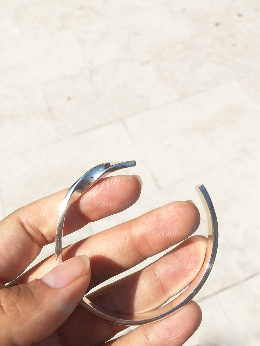 Minutiae bracelet made in sterling silver