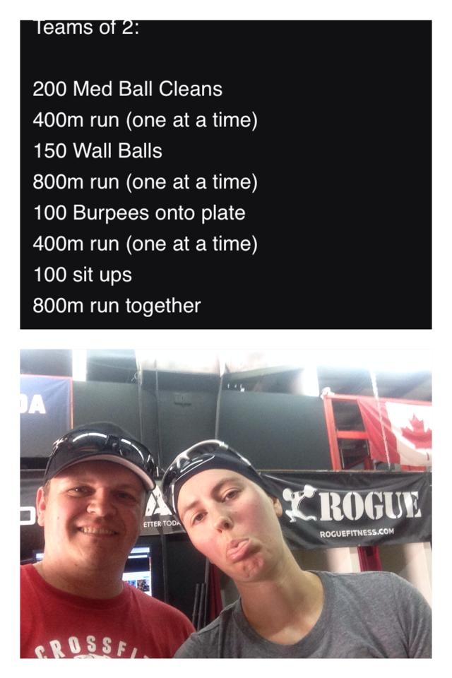 Rob And Elise After a Saturday AM WOD