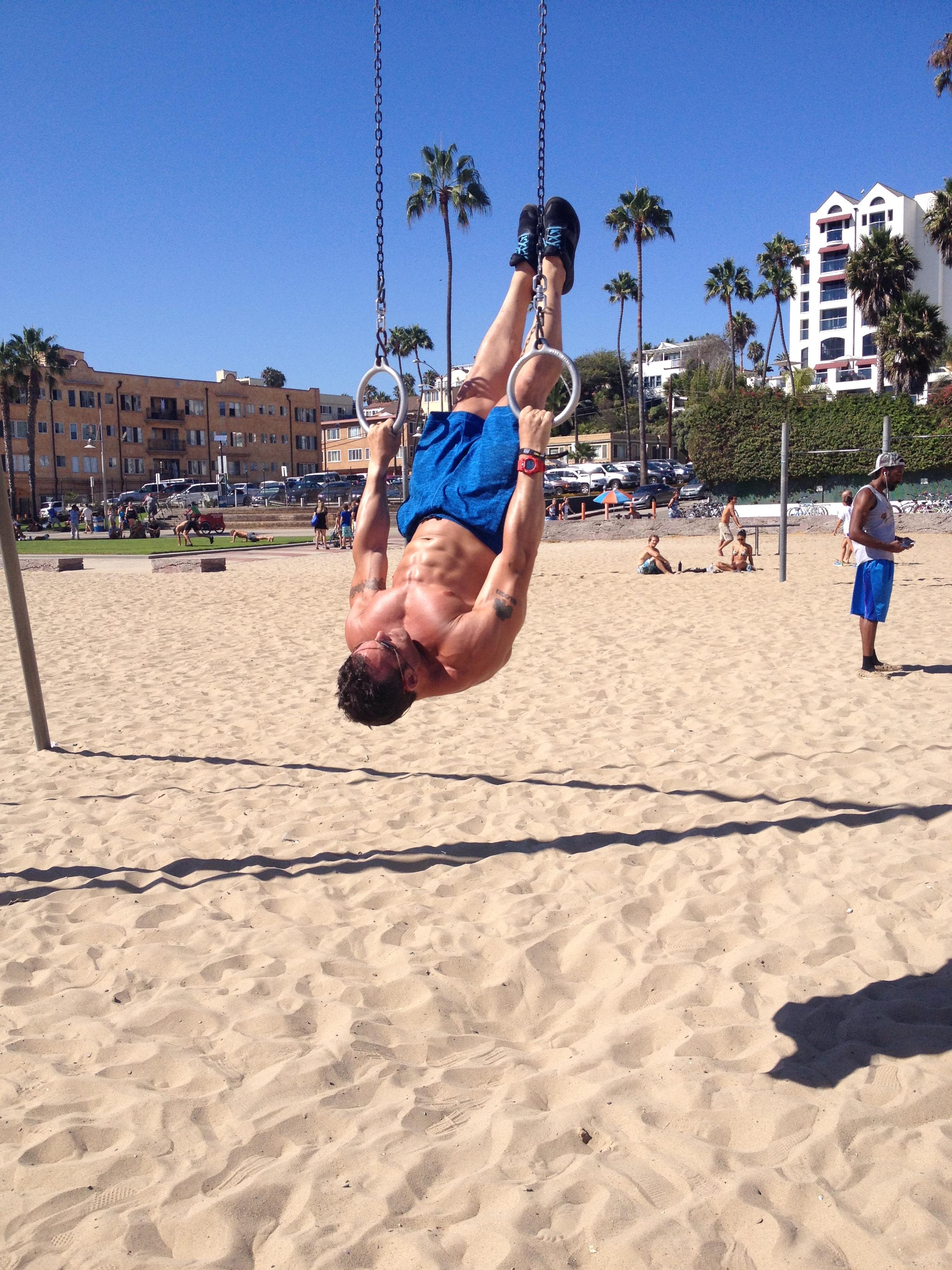 Coach E at Muscle Beach