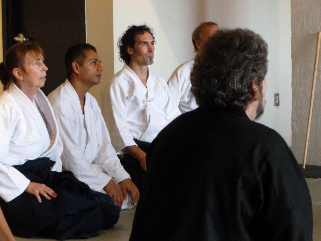 Sensei Rick Testa of City Aikido (middle).