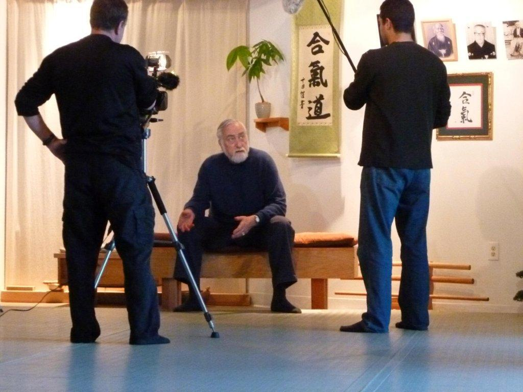 Sensei von Krenner sits for an interview about his upcoming book (scheduled for May 2013).