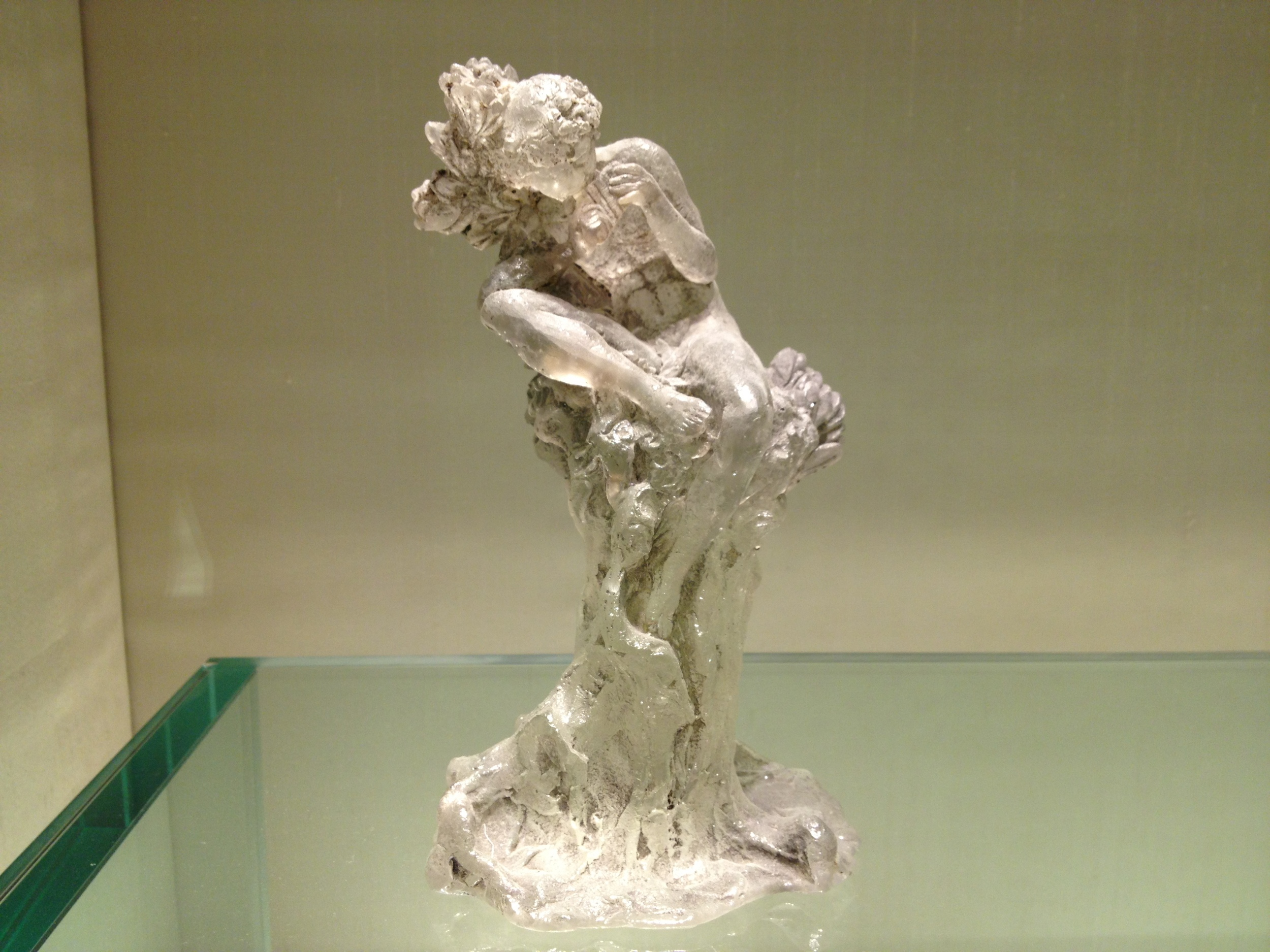 "Rene Lalique ""Faun"" Statuette 1919 Clear patinated glass"