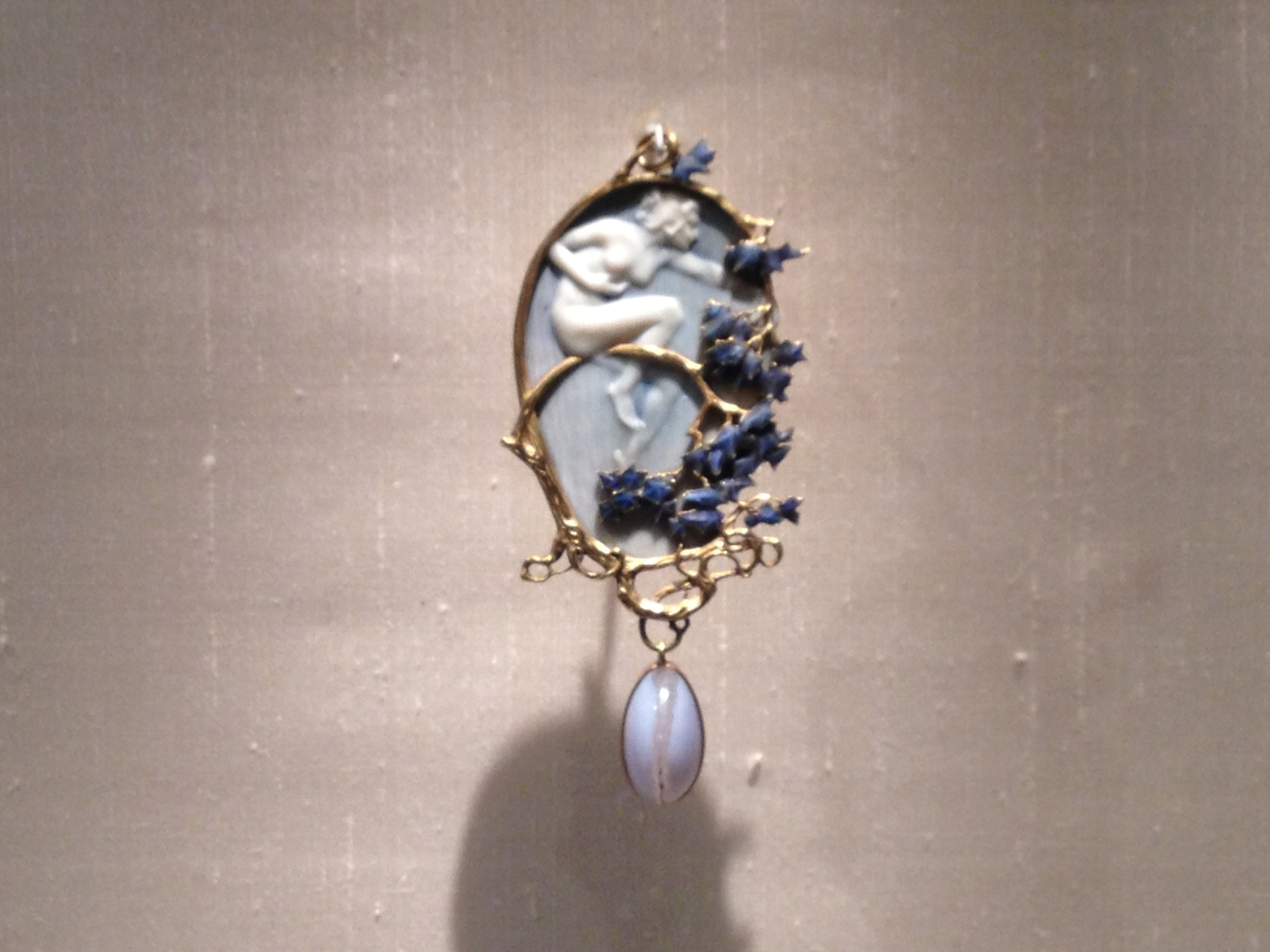 "Rene Lalique ""Nymph"" pendant c 1899-1900 Gold, enamel, ivory and agate"