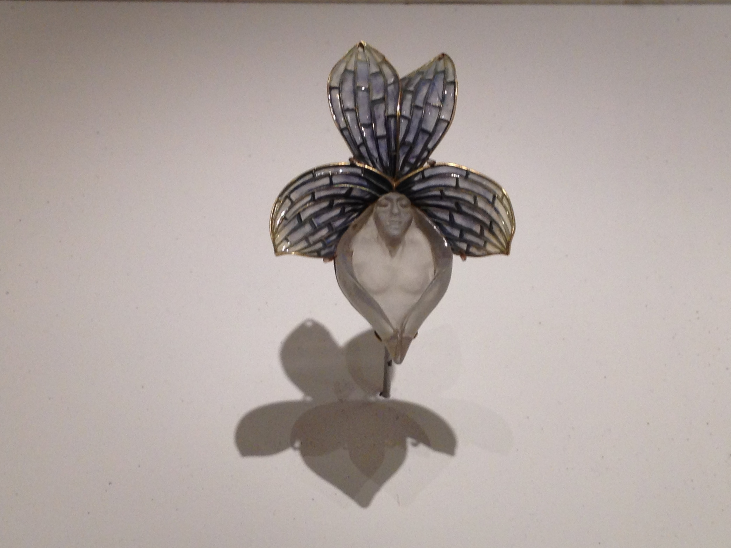 "Rene Lalique ""Orchid"" pendant c 1899-1900 Gold, enamel and glass"