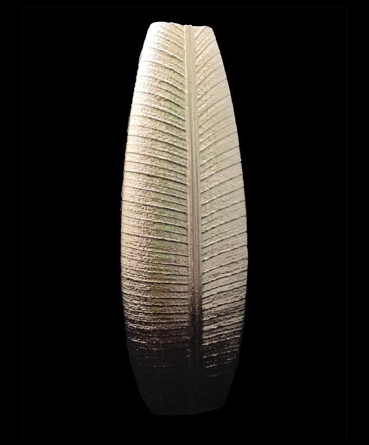 "Jesse Waugh ""FOLIO Vase"" nickel plate 2012 Nickel plated mixed metals"