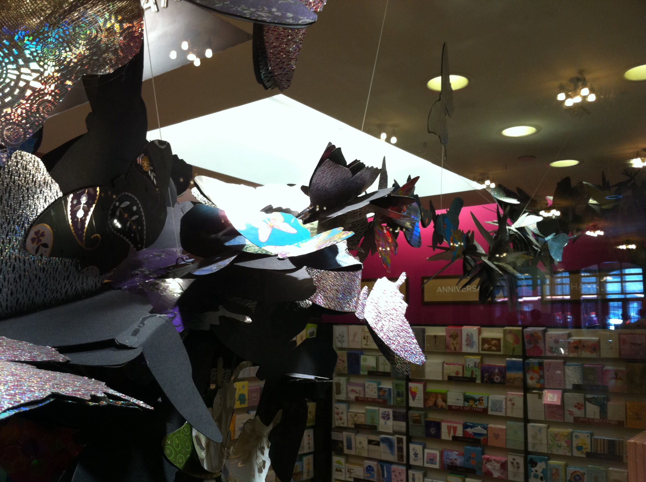PAPYRUS STORE BUTTERFLY DISPLAY GRAND CENTRAL STATION NEW YORK CITY 2