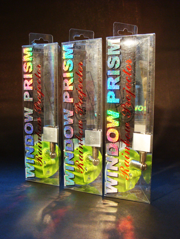 """esse Waugh """"WINDOW PRISM"""" 008 BS mounted optical crystal and packaging"""