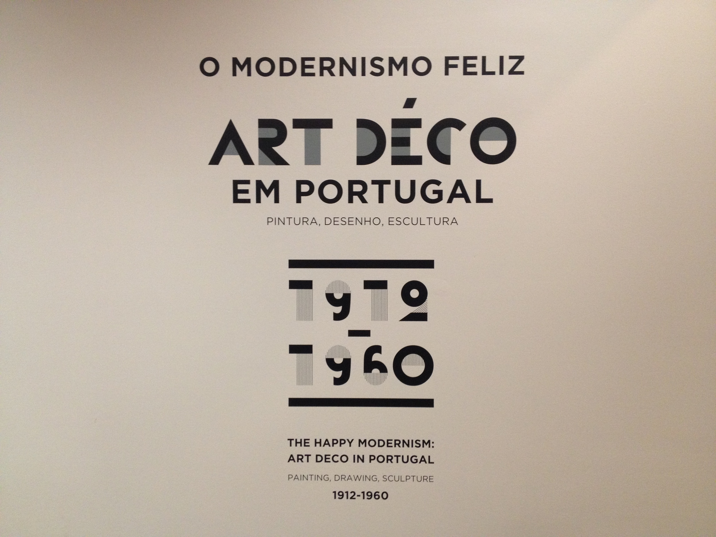 ART DECO EM PORTUGAL - Portuguese Art Deco Exhibition, Chiado Museum, Lisbon