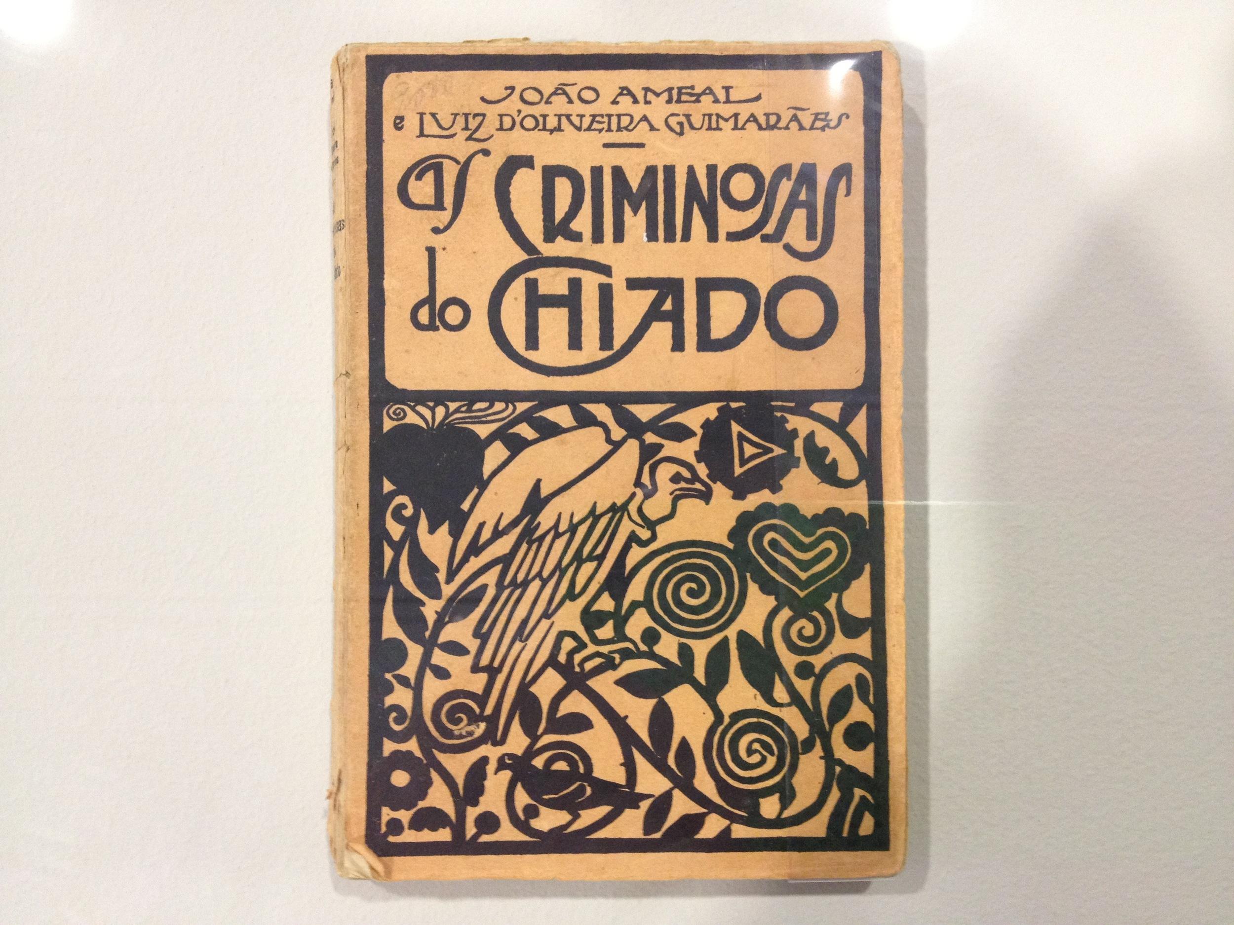 """Joao Ameal and Luiz d'Oliveira Guimaraes [Anonymous design] Cover for """"As Criminosas do Chiado"""" c 1925"""
