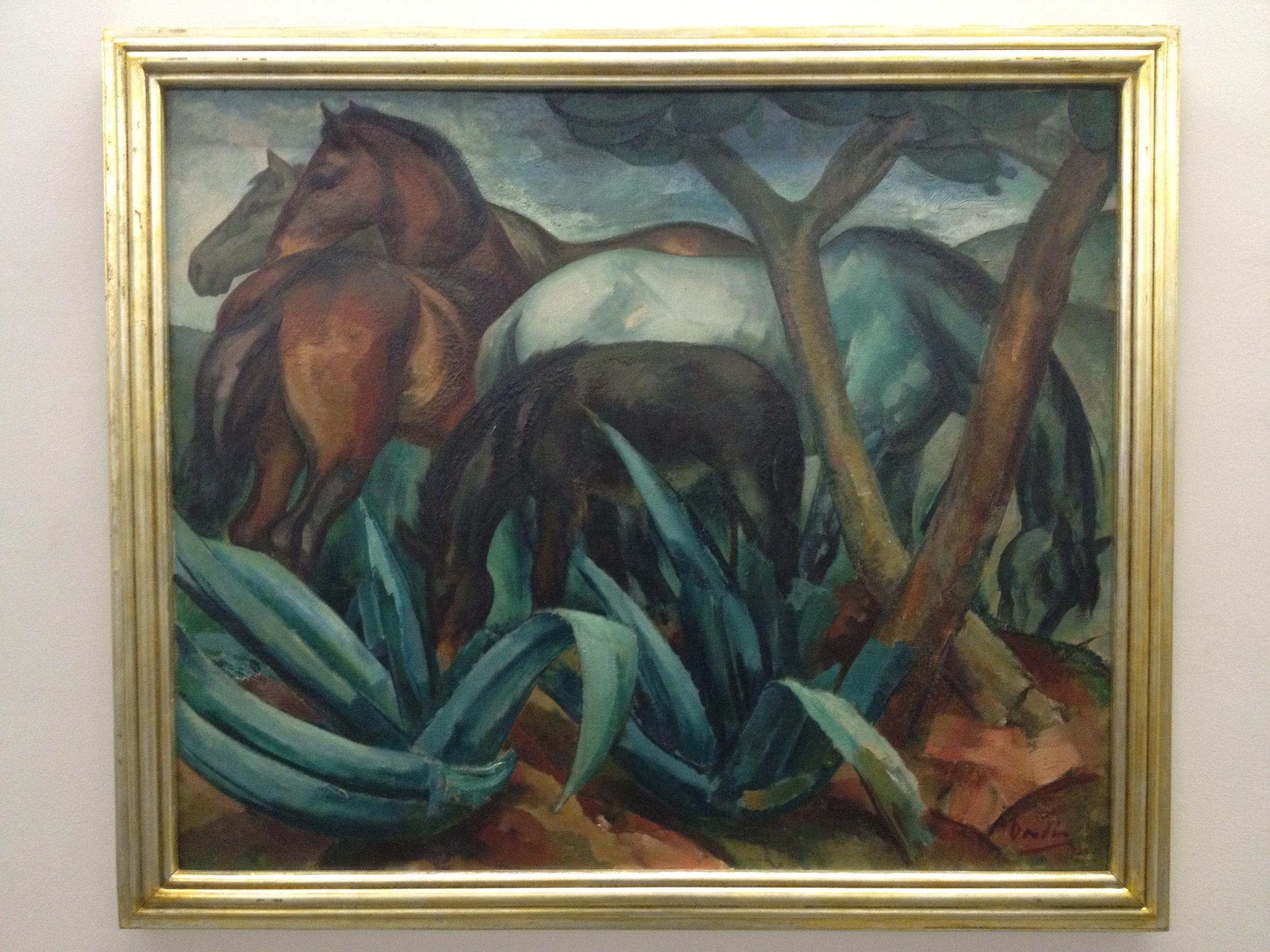 """Dordio Gomes """"Eguas de manada"""" 1929 Oil on canvas"""