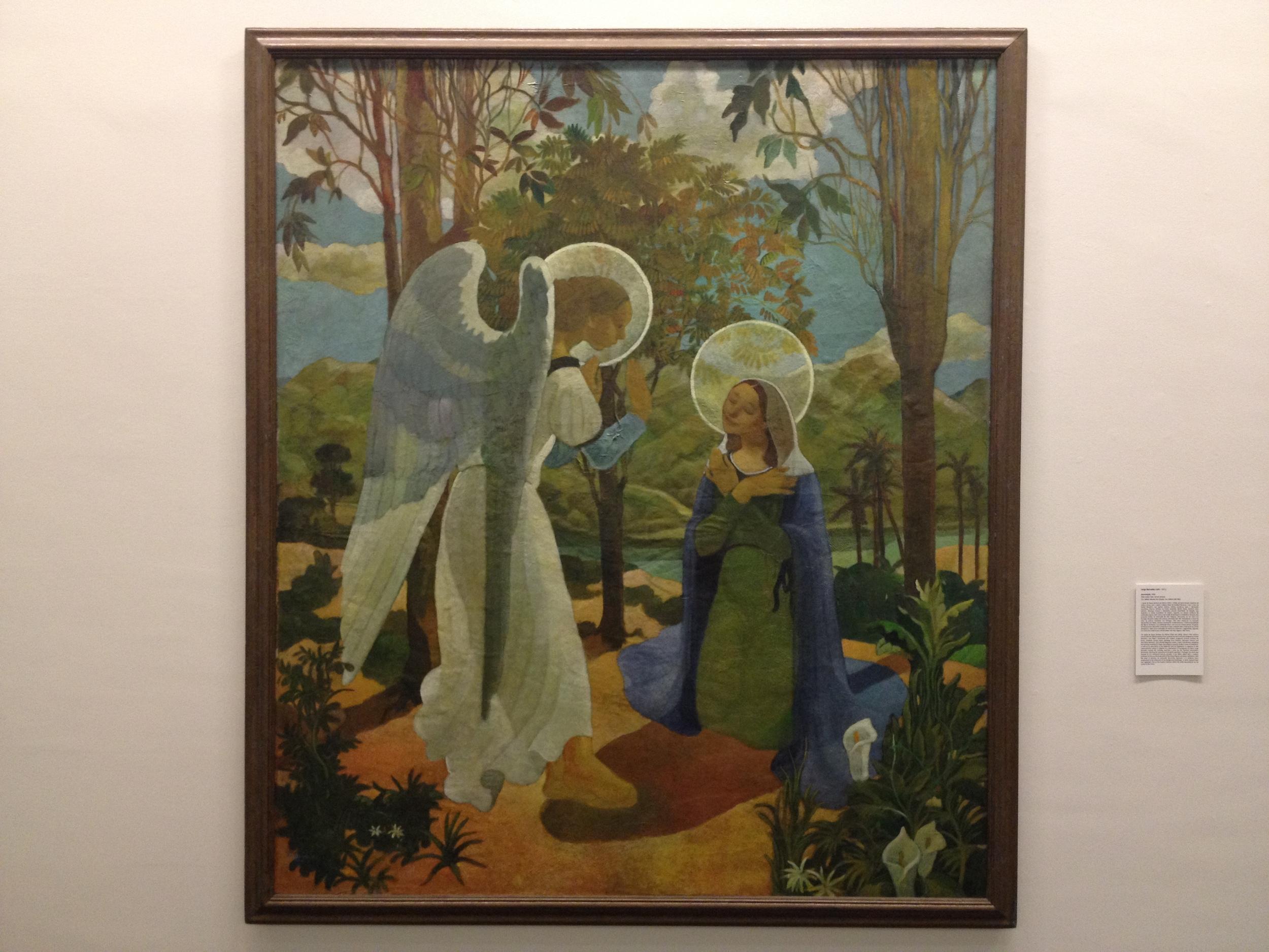 """Jorge Barradas """"Anunciacao"""" 1936 Oil on canvas"""