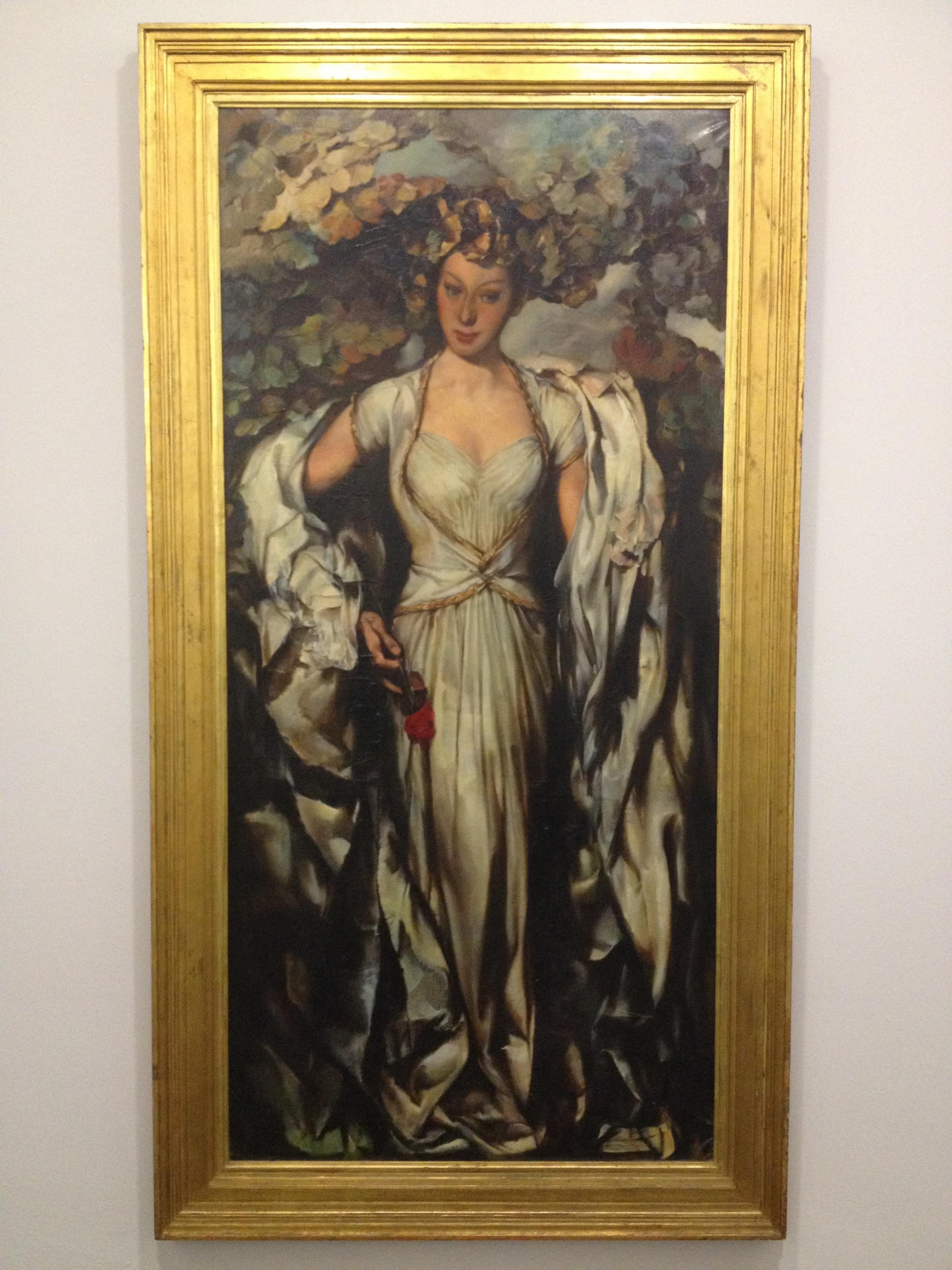 "Antonio Soares ""Senhora da Rosa"" 1945 Oil on canvas"