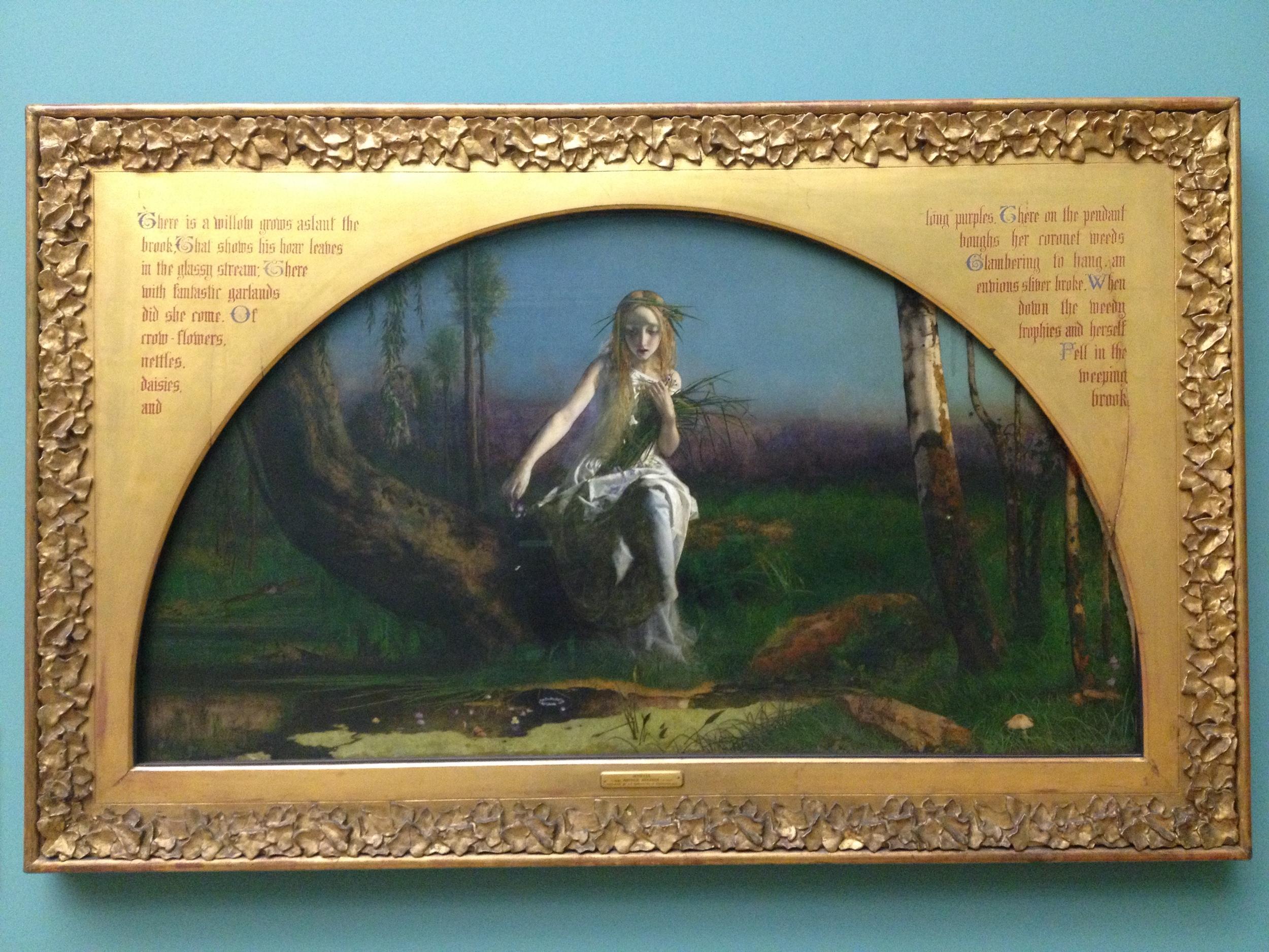 Arthur Hughes  Ophelia  1852 Oil on canvas Manchester Art Gallery