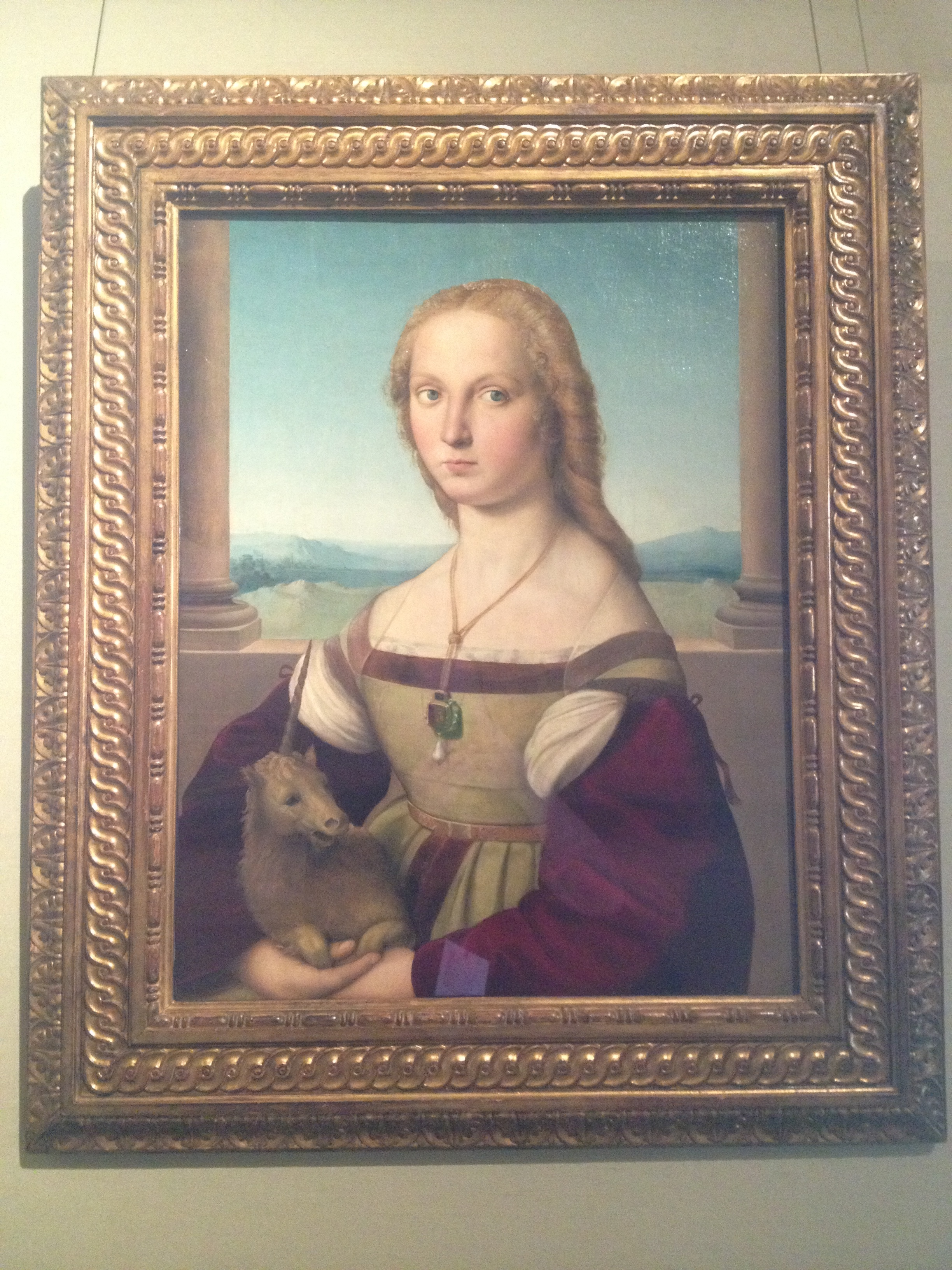 Young Woman With Unicorn Rafael Sanzio 1506 OIl on canvas on wood