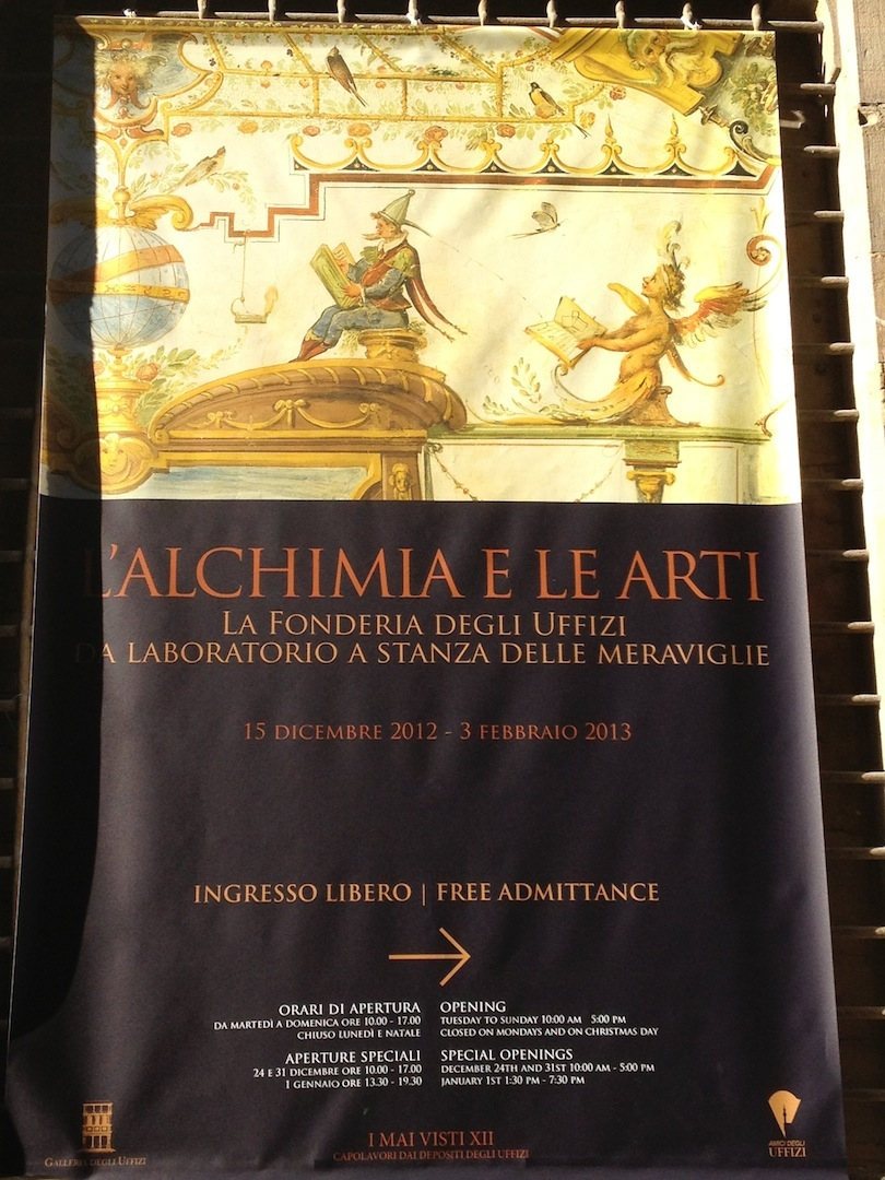 Art and Alchemy Exhibition L' Alchimia e Le Arte Uffizi Gallery Florence, Italy