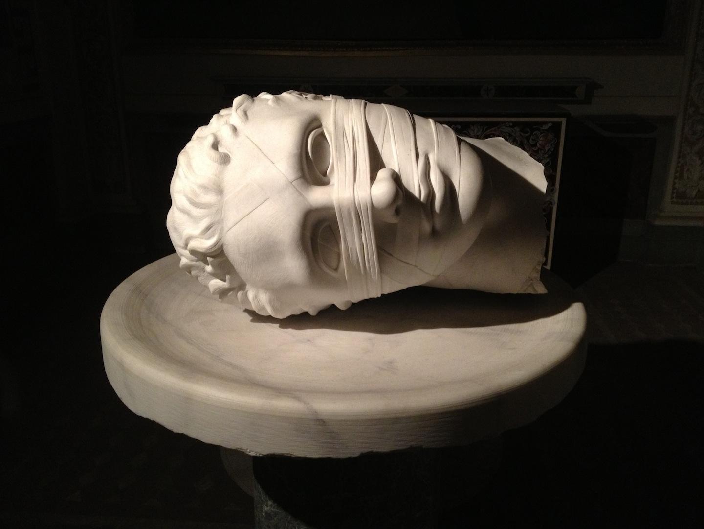 Igor Mitoraj Head of John The Baptist 2006 Carrara marble