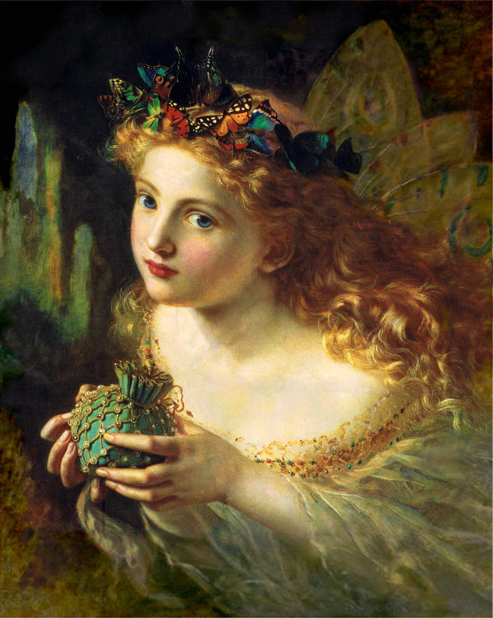 Sophie Anderson Take The Fair Face of Woman AKA The Fairy Queen 19th century