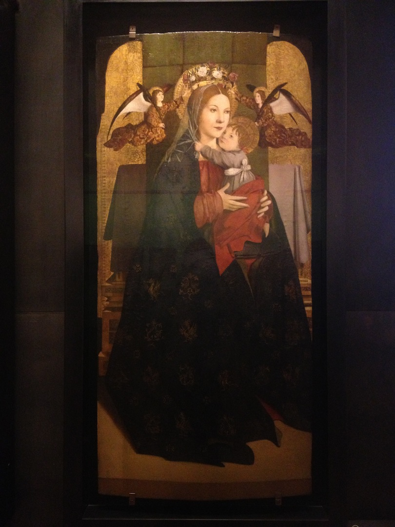 Antonello da Messina       Madonna and Child Enthroned and Two Angels   1470 circa Oil on panel