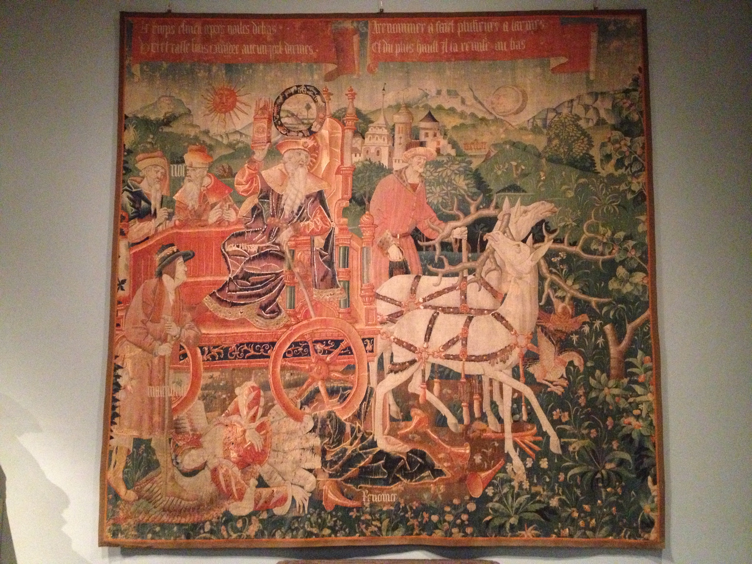 The Triumph of Time over Fame  Woven before 1534 Tapestry Netherlandish or French