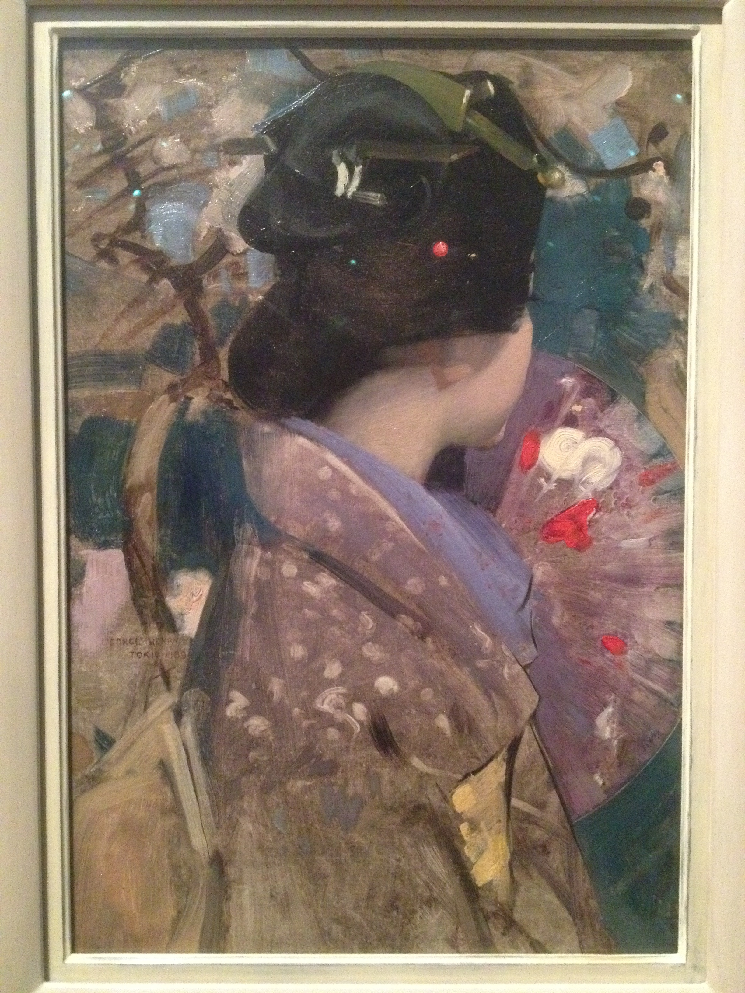 Fig. 3 George Henry     Japanese Lady with a Fan   1894 Oil on canvas