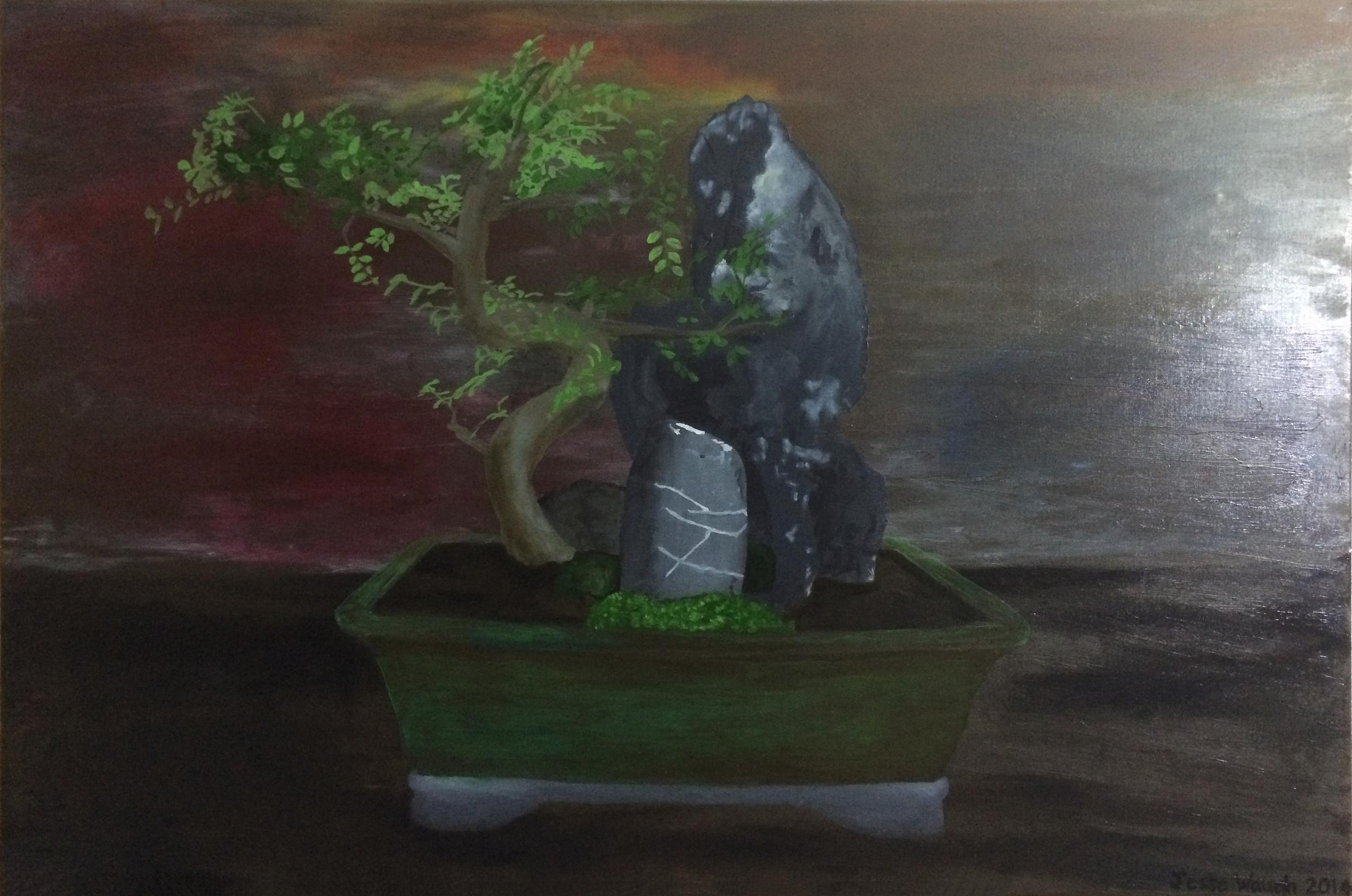 Jesse Waugh   Center (Bonsai)   2014 Oil on canvas