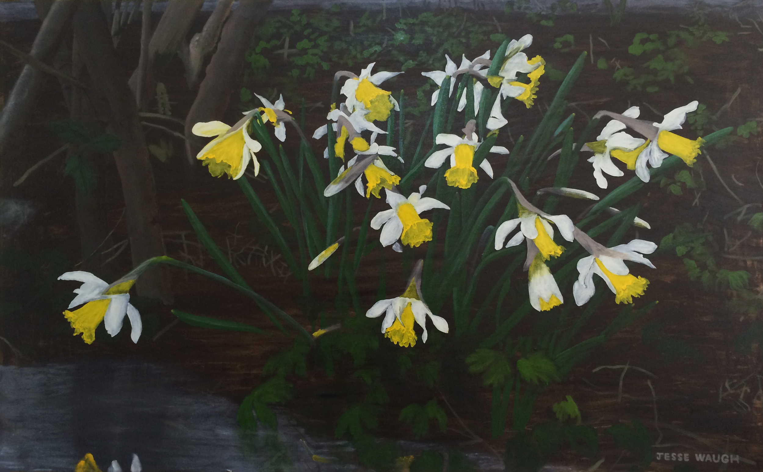 Jesse Waugh   Pseudonarcissus   2014 Oil on canvas