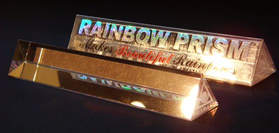 """Jesse Waugh """"RAINBOW PRISM"""" 2007 Optical crystal and packaging"""