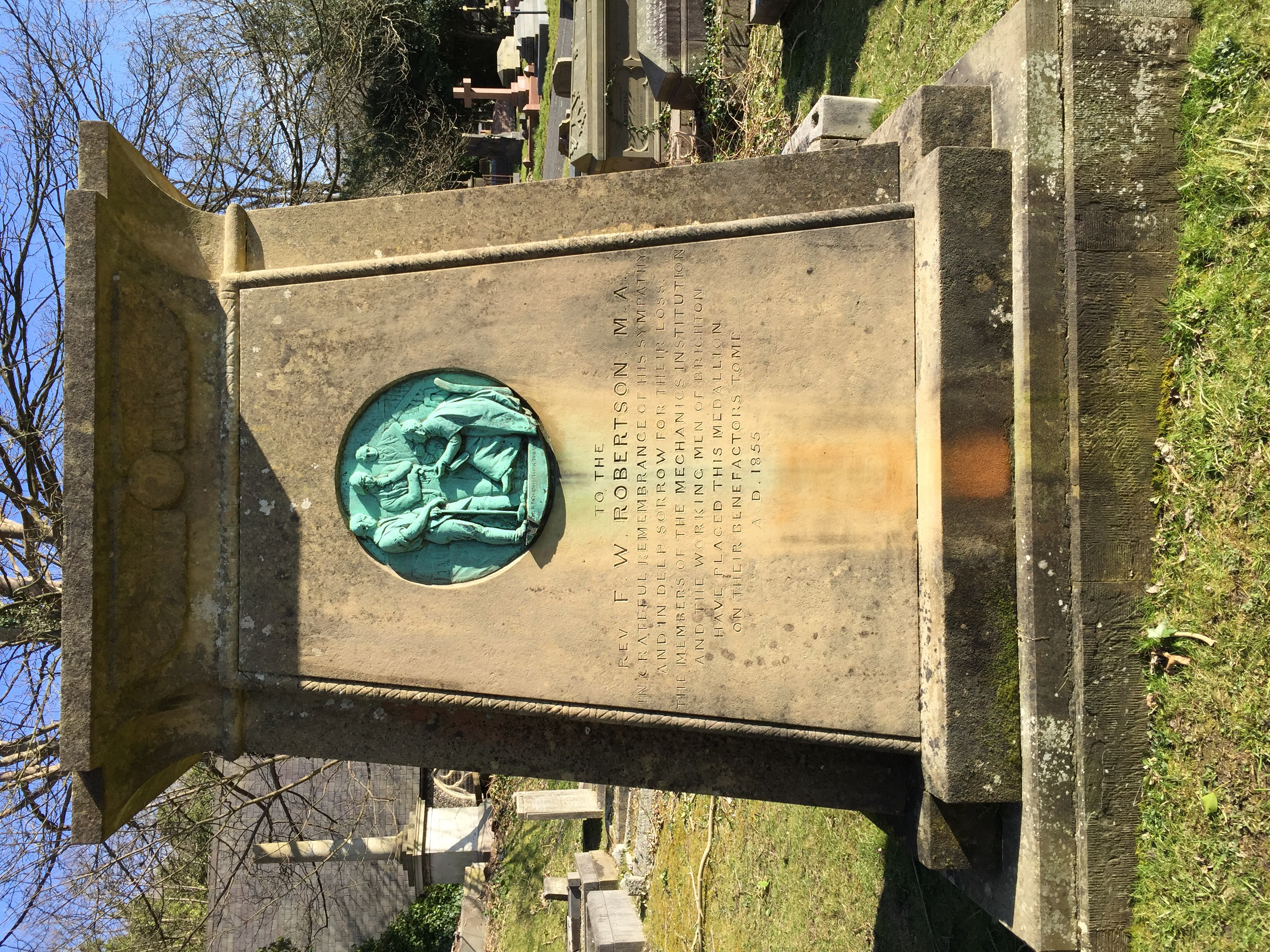 F. W. Robertson tomb at Brighton Extramural Cemetery
