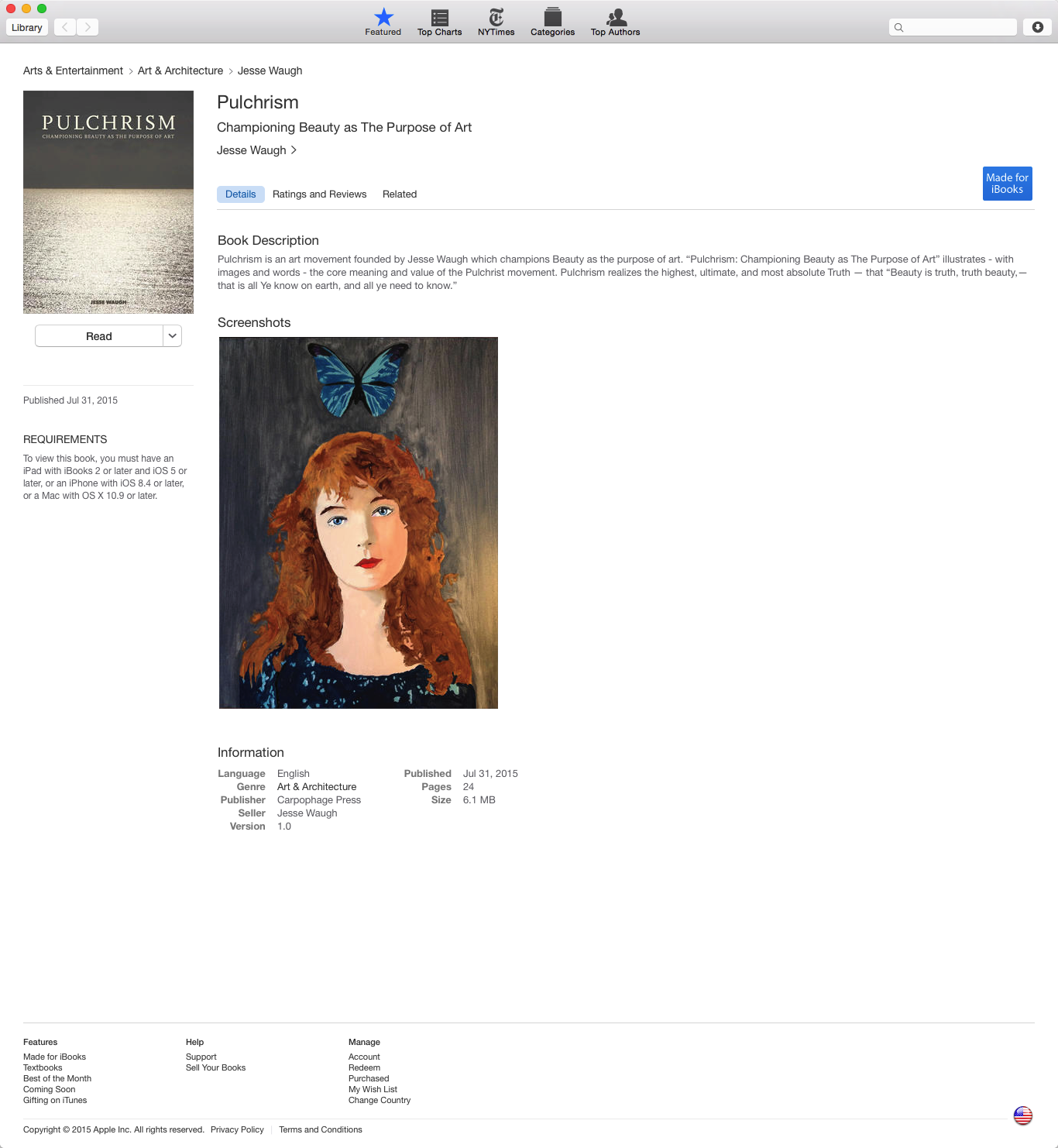 PULCHRISM: Championing Beauty as The Purpose of Art   on iBooks
