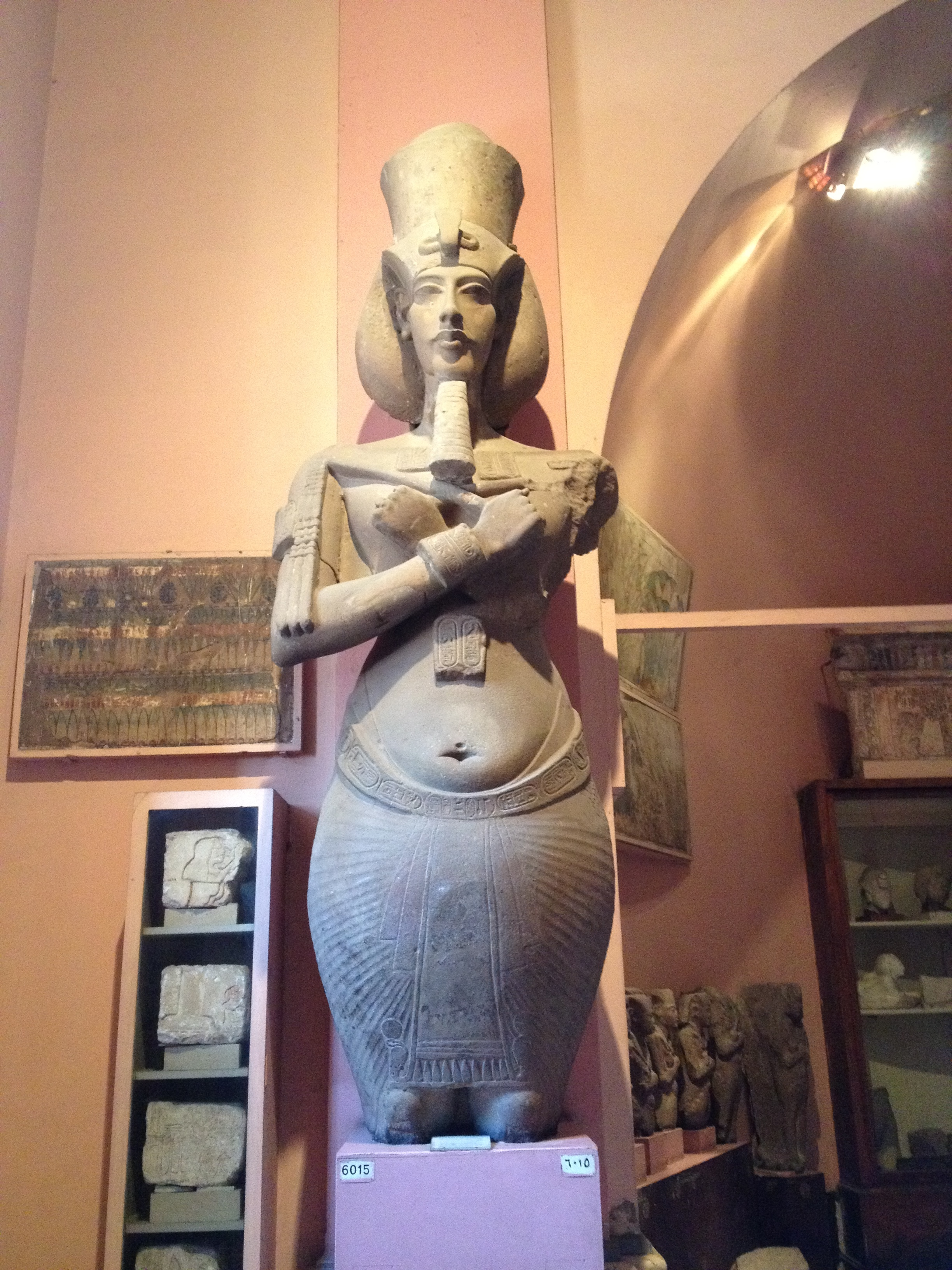 Statue of Akhenaten at the Egyptian Museum  - photo by Jesse Waugh