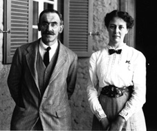 Norman de Garis Davies  with wife