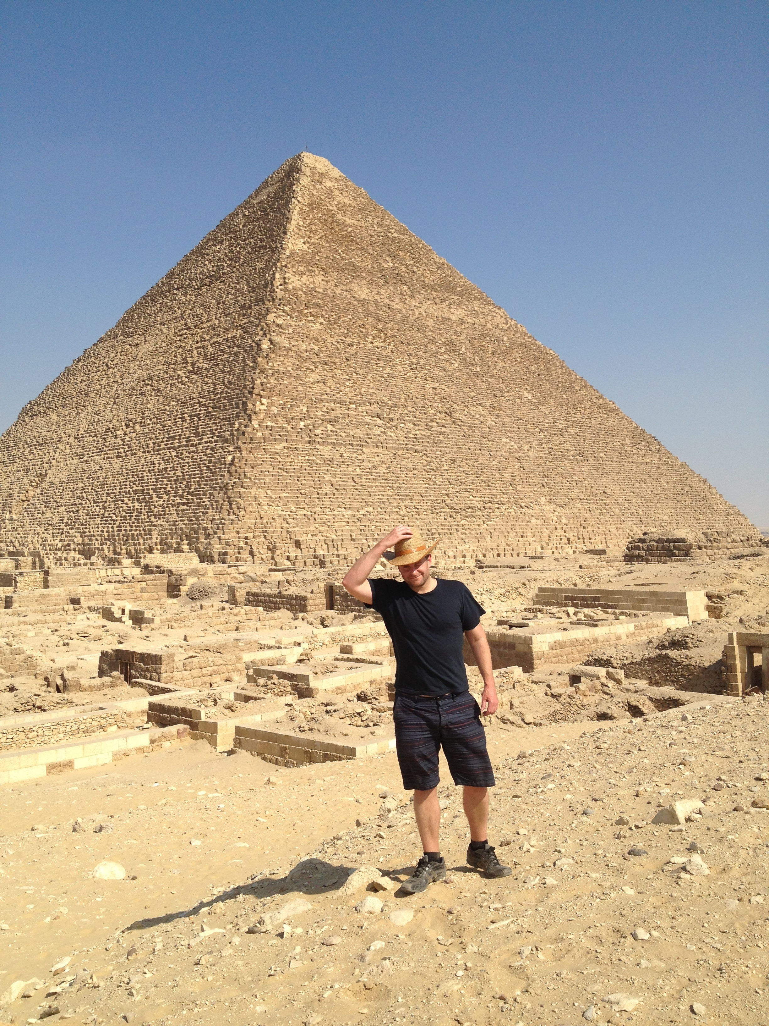 Jesse Waugh at the Great Pyramid