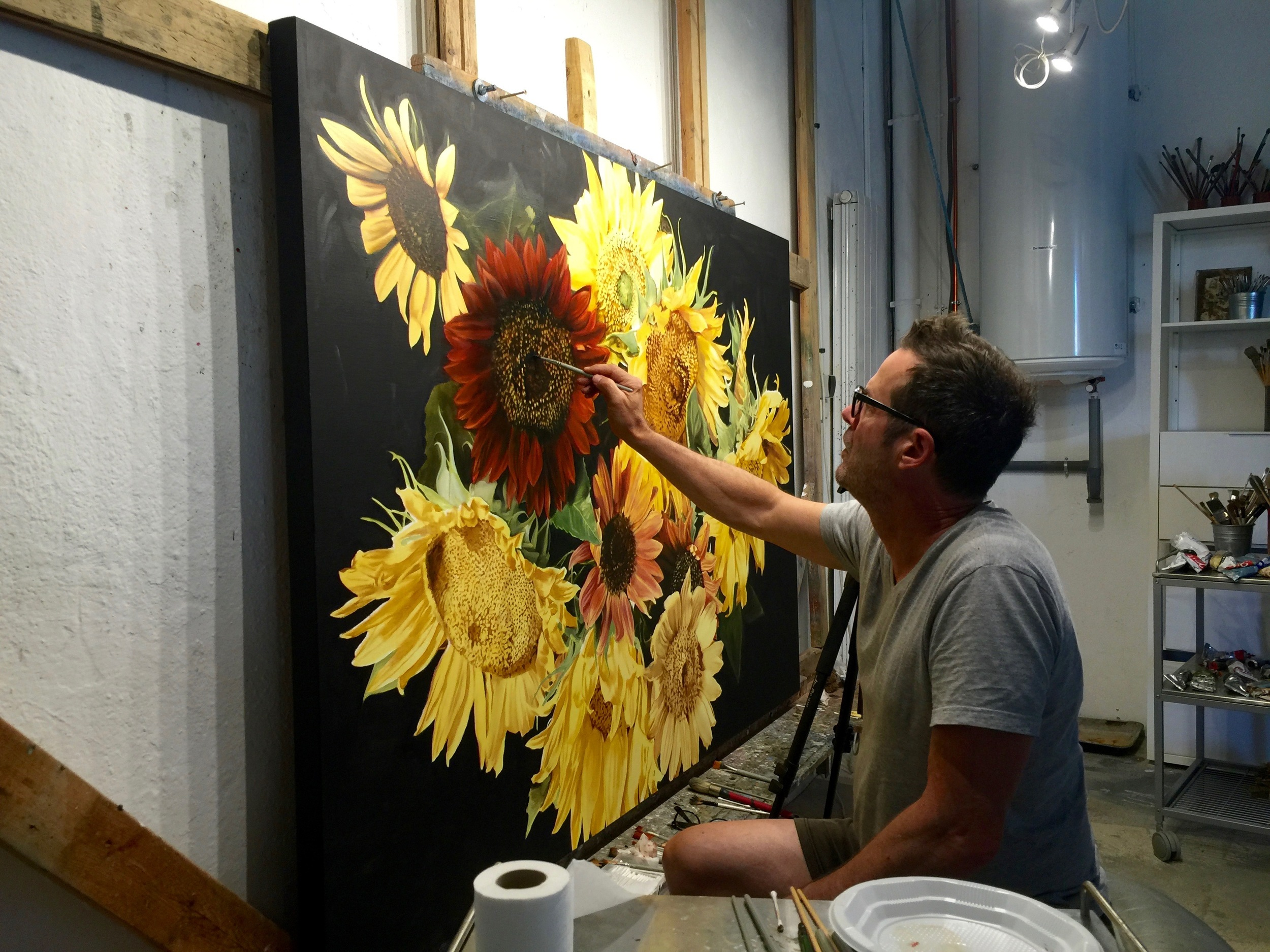 Artist Thomas Darnell at his studio in the south of France