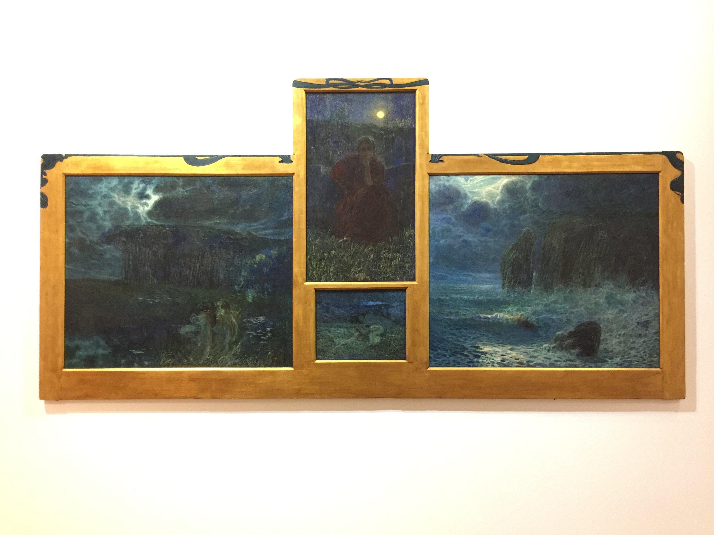 PLINIO NOMELLINI  SINFONIA DELLA LUNA [SYMPHONY OF THE MOON]  1899  OIL ON CANVAS