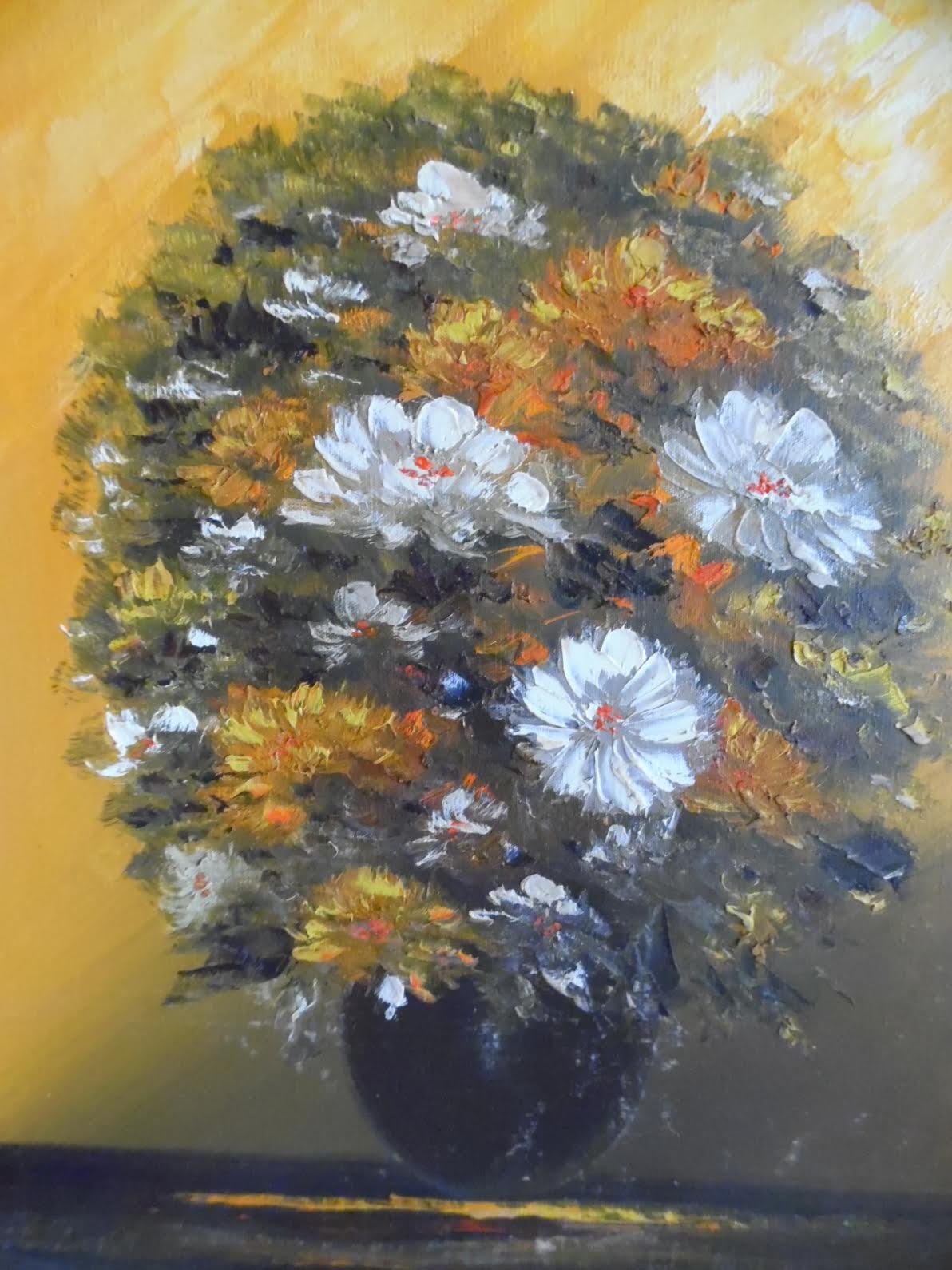 Flowers painting by  Audrey Bernice Graydon Waugh