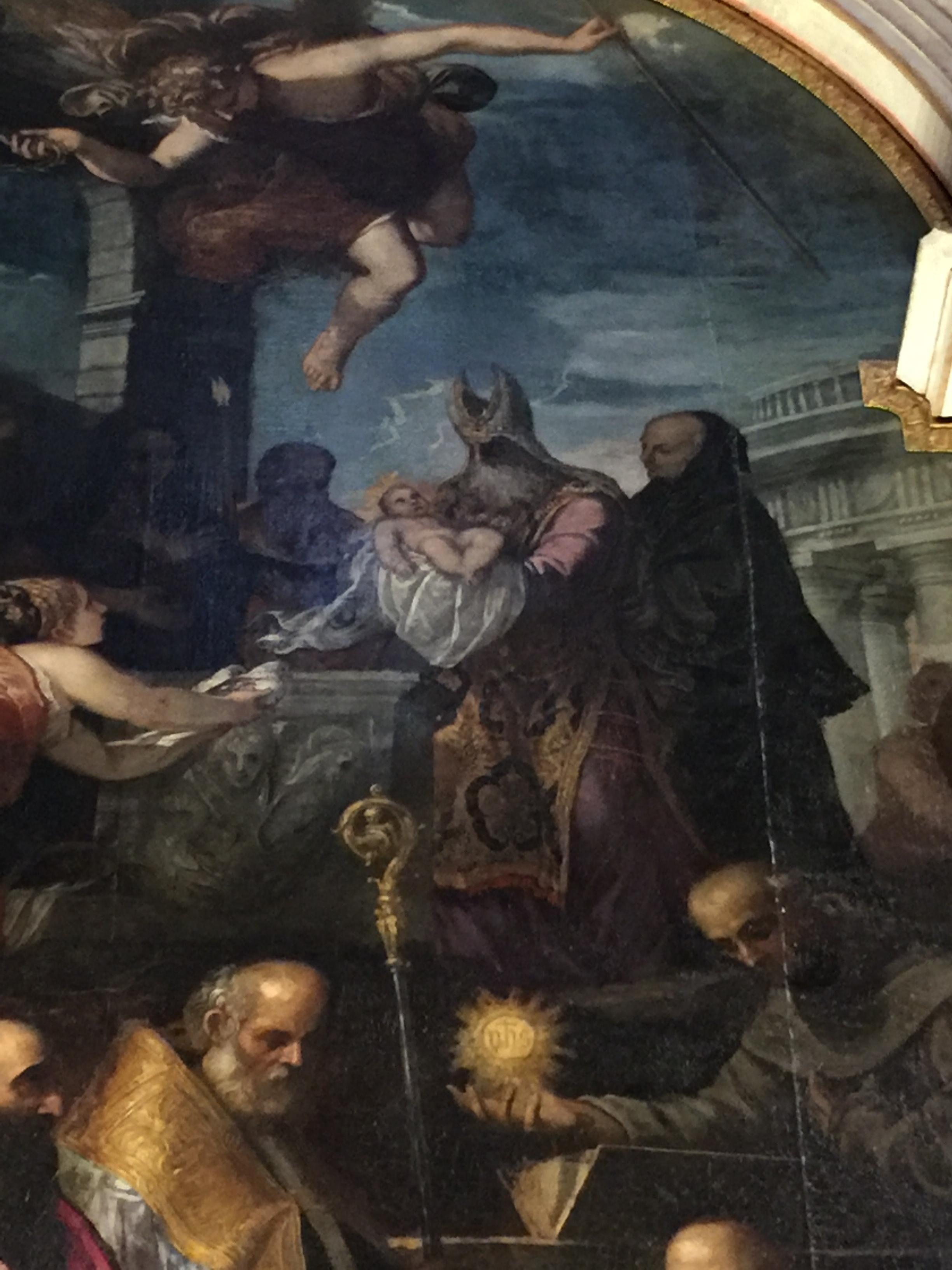 Giuseppe Porta detto Salviati   La Presentazione di Gesù al Tempio (The Presentation of Jesus at The Temple)   (detail 2) Fresco Doge's Palace, Venice, Italy