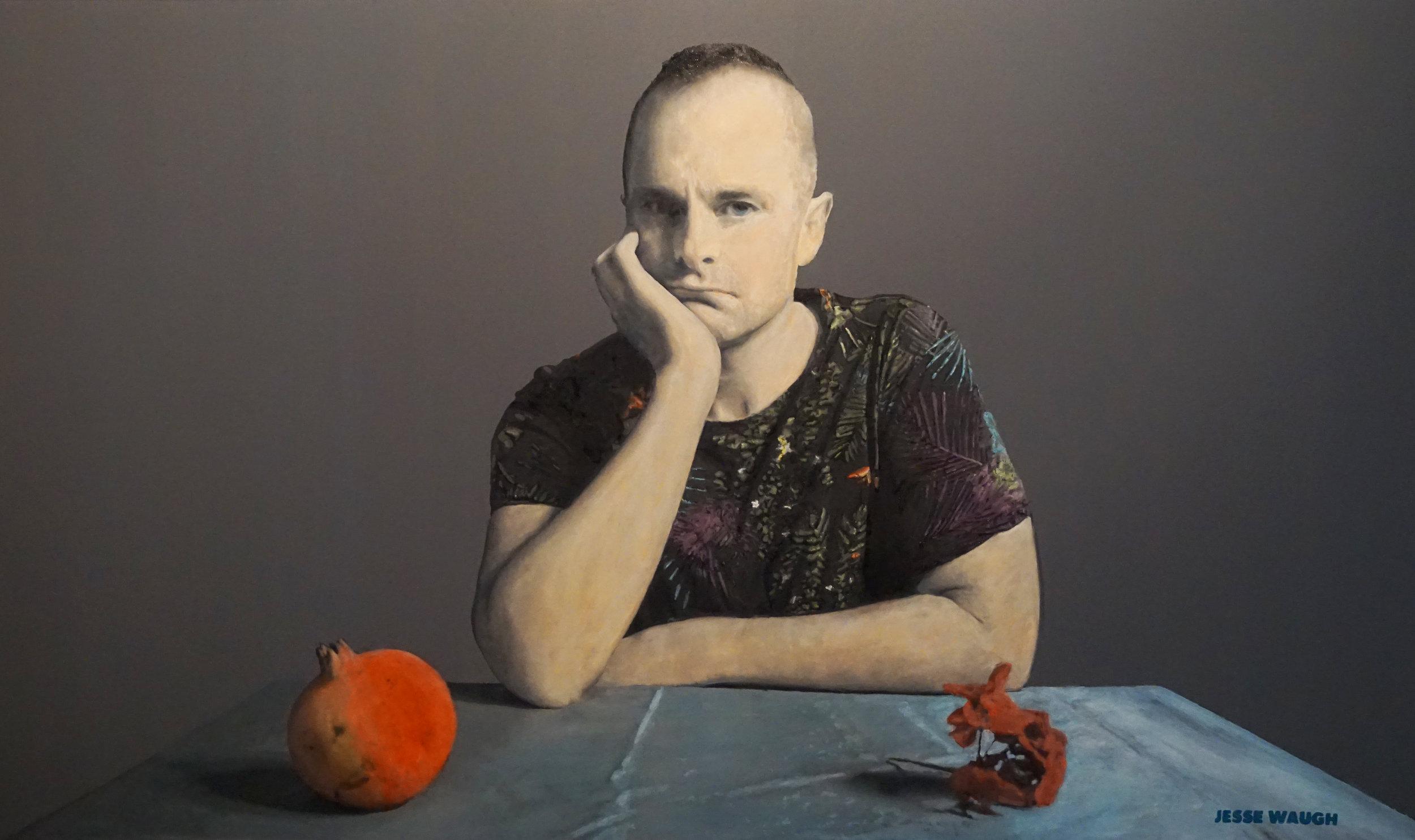 Jesse Waugh   Melancholia (Self-portrait)   2017 Oil on canvas 195 X 114 cm