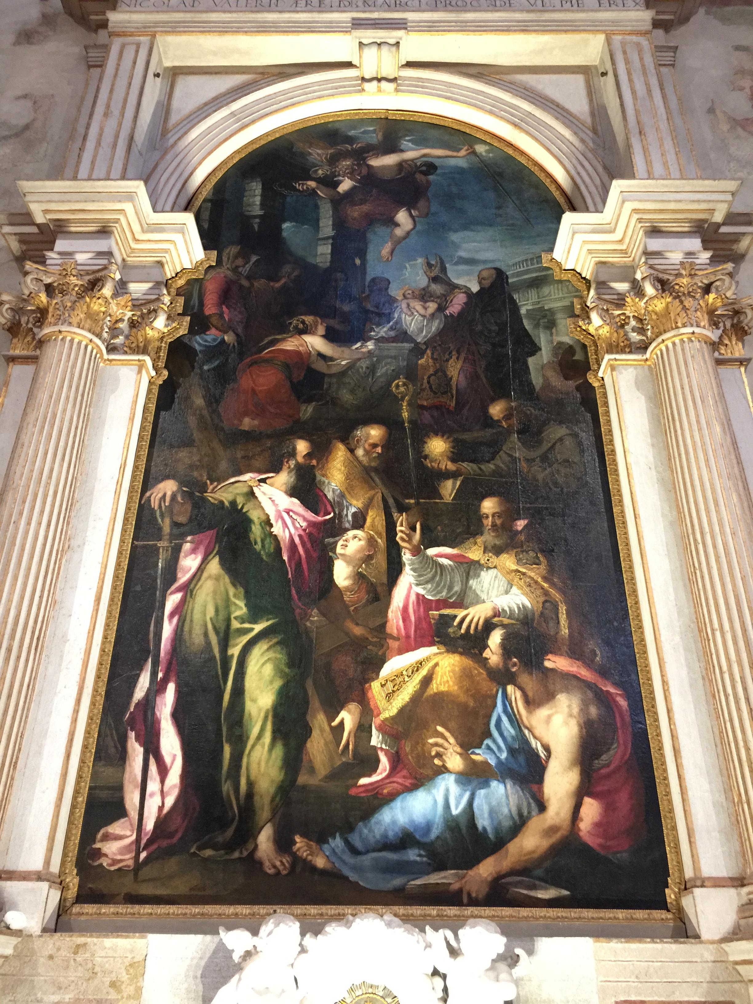 Giuseppe Porta detto Salviati   La Presentazione di Gesù al Tempio (The Presentation of Jesus at The Temple)   16th century Fresco Doge's Palace, Venice, Italy