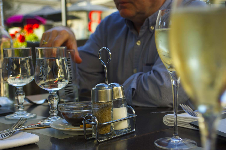 White wine before dinner