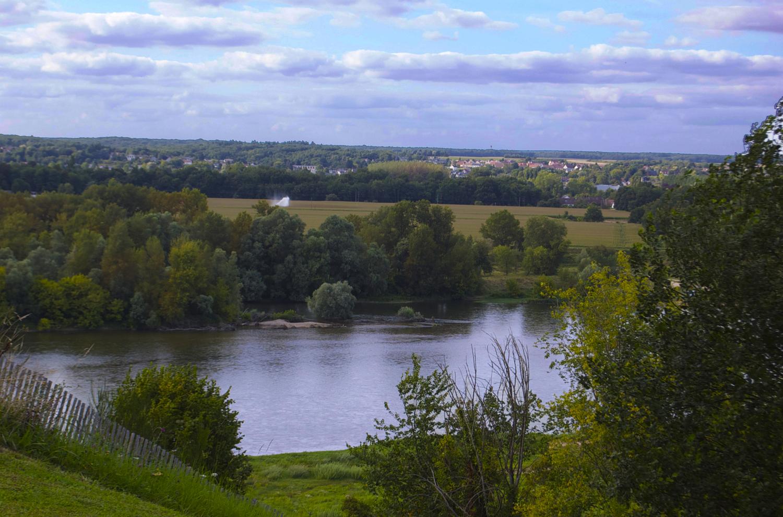 View of the Loire River at Chaumont-sur-Loire