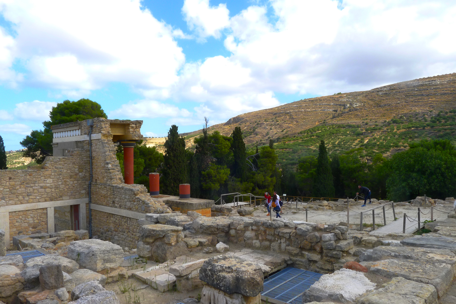 The site at Knossos is massive