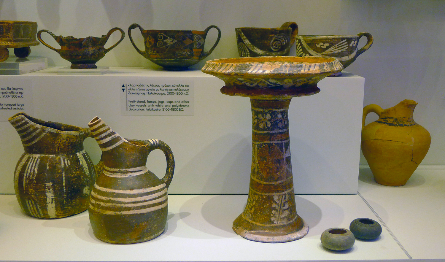 The forms and decoration on the pottery are exquisite